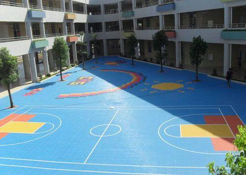 南充悬浮拼装运动地板 球场地板 室外运动地板 活动地板