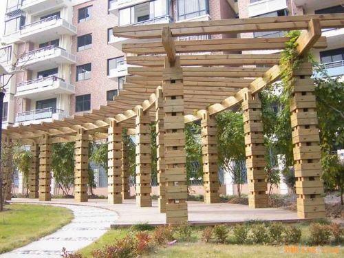 河北廊架花箱凉亭栈道木结构园林景观首佳木结构