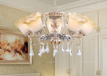 深圳淘美居时尚家居之照明与灯具系列进口树脂五头吊灯