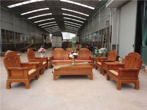 东阳红木家具大象头沙发