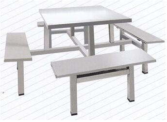 不锈钢八座快餐桌椅