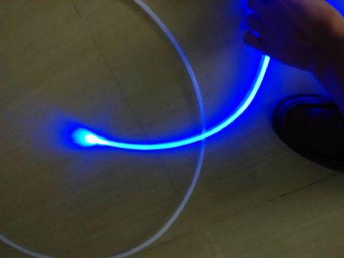 汽车大巴,内饰装饰氛围蓝色光纤灯,通体导光条