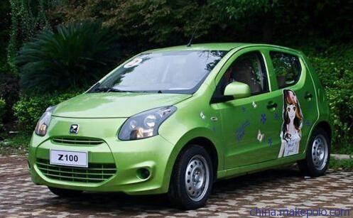 众泰云100新能源汽车 家用电动汽车图片 上班代步电动车 电池