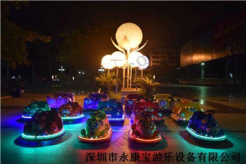 深圳星期天彩灯新款毛绒电动玩具车、儿童游乐设备卡通动物