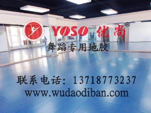 广东 佛山舞蹈塑胶地胶舞蹈房地胶垫PVC舞台地板,