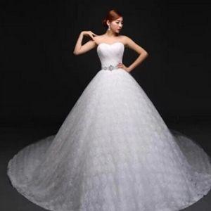 供应新款2015婚纱礼服韩式抹胸婚纱