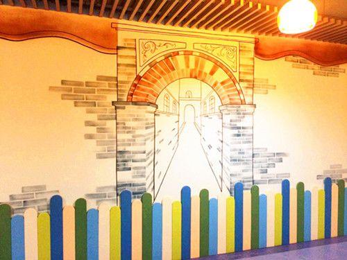 幼儿校园文化墙彩绘设计方案