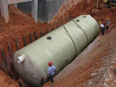 广西南宁钢化玻璃化粪池60立方