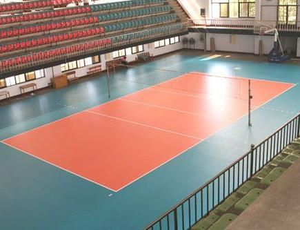江苏排球场塑胶地板,博高室内排球场运动pvc地板