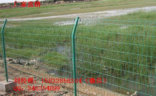 绿色铁丝网隔离 1.8米高护栏网 预埋护栏网