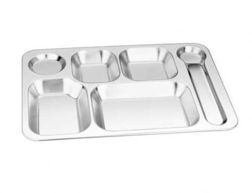 新大六格餐盘_不锈钢六格快餐盘_不锈钢餐具厂家-天泽五金