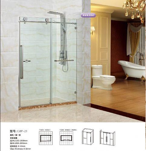 佛山浴室玻璃移门隔断 厂家直销卫生间玻璃门 隔断门产品