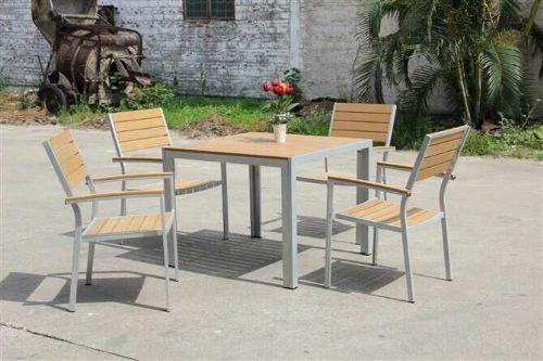 户外家具 花园家具 塑木椅子 塑木方桌 塑木长桌 铝合金塑木家具