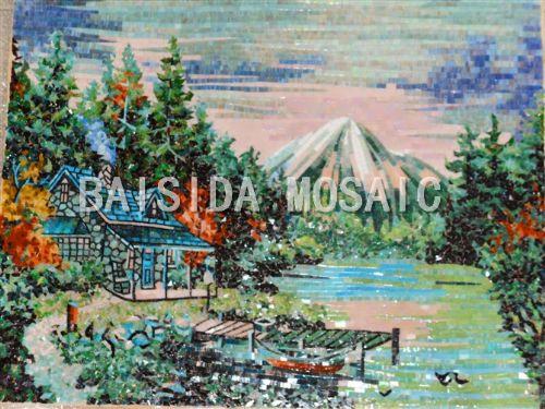 佛山最便宜的玻璃马赛克批发厂家-马赛克拼图剪画直销