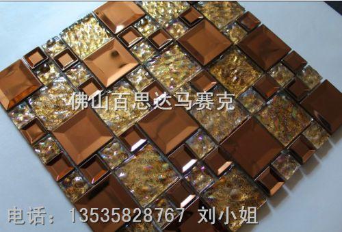 安徽滁州市圆柱玻璃马赛克批发-凤尾图拼图马赛克特价