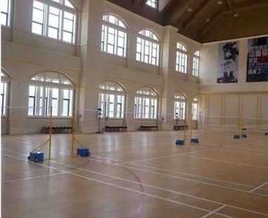 济南室内pvc枫木纹篮球场专用地胶全国上门施工设计