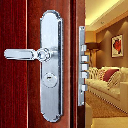 不锈钢执手锁 外装防盗机械执手门锁 欧式不锈钢室内房门锁