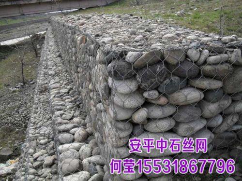河流护坡护脚格宾石笼,镀锌铅丝石笼,生态固滨石笼
