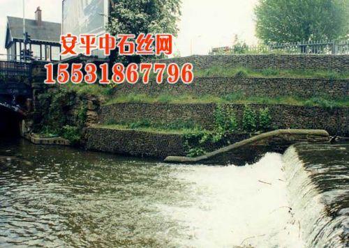格宾石笼护坡,高尔凡铅丝石笼固脚,河床护底格宾笼垫