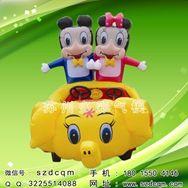 广场儿童充气电瓶车 气模车电动玩具车 公园赚钱游乐设备