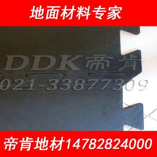 彩色柳叶纹工业互扣塑料地板,10mm厚高品质DDK耐磨工业地胶批