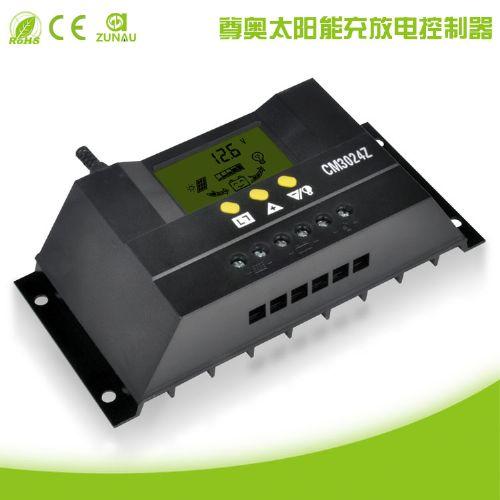 太阳能控制器12V24V30A双路输出数显自动识别光控定时USB