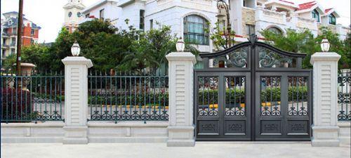 铝艺庭院门在别墅庭院中的作用