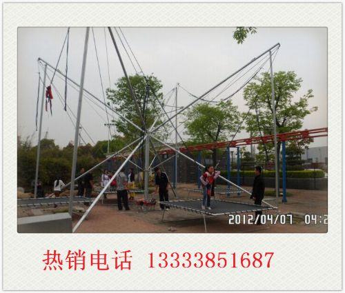 四人钢架蹦极 豪华旋转木马 欢乐喷球车项目