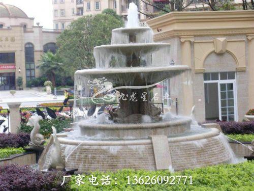 石雕喷泉水池 雕刻水景流水喷泉