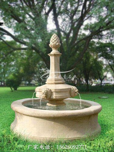 别墅石雕喷泉花园流水喷泉