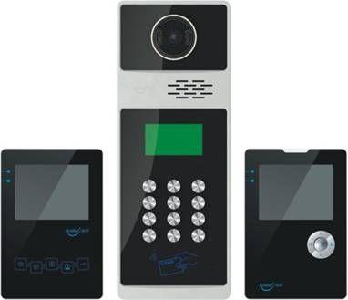 供应安的楼宇对讲可视系统,7寸室内机可视门铃