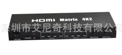 监控视频矩阵厂家供应4进2出 4进4出HDMI矩阵 切换器