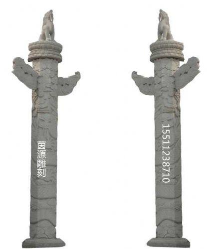 木雕刻龙柱图案