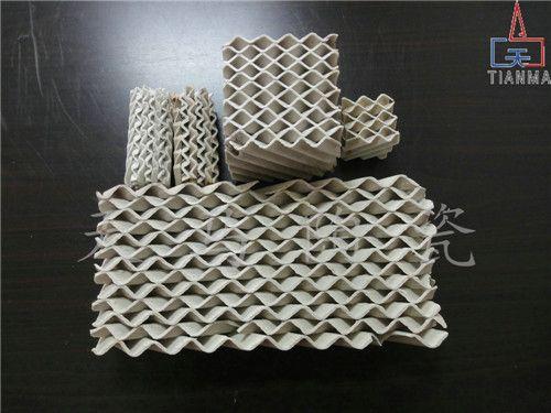 河南 陶瓷高效波纹填料