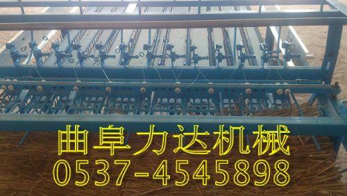 大棚草帘机图片  高产量草帘机价格 水稻秸秆编织机