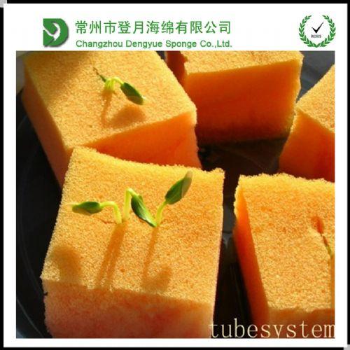 江苏厂家定做专用植物种植棉 无土栽培水培育苗海绵 吸水海绵块