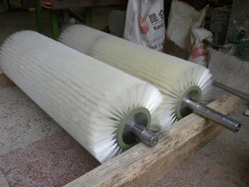 尼龙丝毛刷辊 水果机毛刷辊 清洗毛刷滚筒 海鲜清洗工业小毛刷轮
