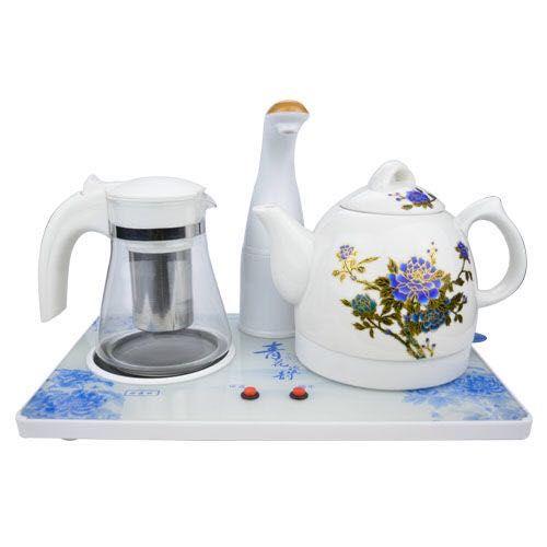 金飞燕陶瓷变色壶功夫茶具电热水壶自动上水壶电水壶