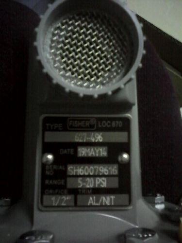 代理美国Fisher调压阀 627-496调压器5-20psi