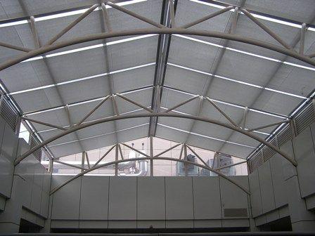 商场顶棚遮阳帘/SS弹簧遮阳帘