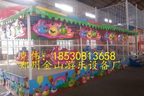 轨道喷球车儿童游乐设备,欢乐喷球车厂家价格多少钱