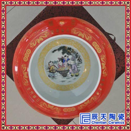 高温颜色釉工艺聚宝盆价格 陶瓷礼品聚宝盆定做批发