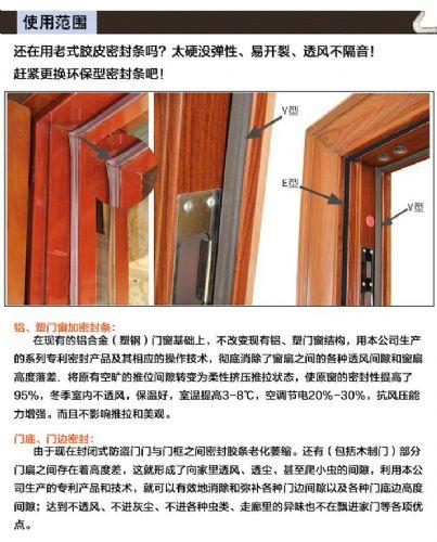 包覆式密封条  高档门窗冬季的优质选择