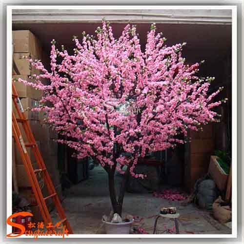 仿真许愿桃花树 年花装饰假树