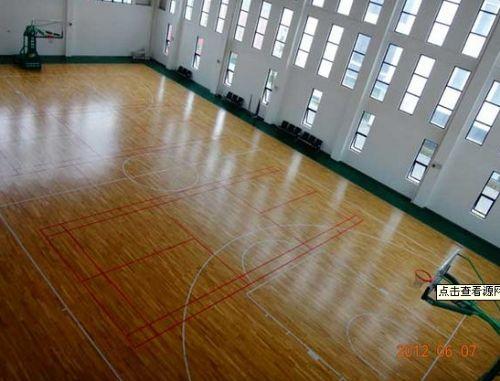 标准枫木纹 篮球场地胶 室内pvc塑胶运动地板 4.5mm