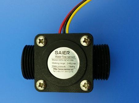 dn20水流量传感器,6分管径霍尔流量计,中央空调 泳池