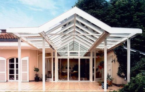 别墅木结构雨棚