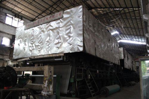 振兴造纸生产线设备圆(长)网生产线、硫化床锅炉发动机组低价出售
