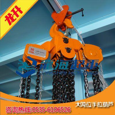 100T大吨位手拉葫芦定制【龙升手拉葫芦带超载限制器】