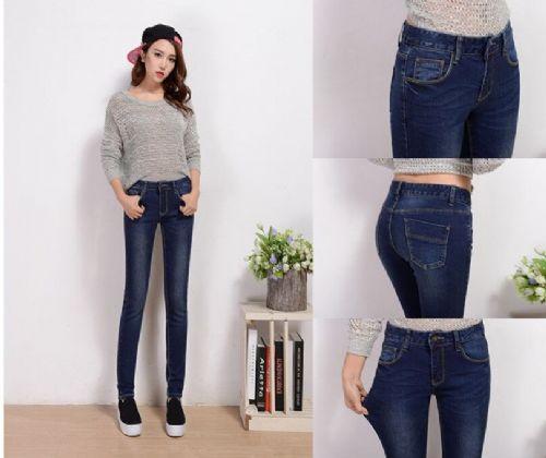 时尚女装铅笔裤小脚裤 女式牛仔裤批发厂家直销最便宜的牛仔裤